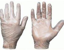 F-STRONGHAND-Vinyl-Einweg-Einmal-Handschuhe, Einmal-Untersuchungs-Handschuhe SANYA, puderfrei, transparent
