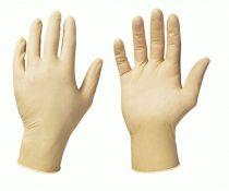 F-STRONGHAND-Latex-Einweg-Einmal-Handschuhe, Einmal-Untersuchungs-Handschuhe COLOMBO, puderfrei, weiß