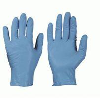 F-STRONGHAND-Nitril-Einweg-Einmal-Handschuhe, Einmal-Untersuchungs-Handschuhe KOWLOON, puderfrei, blau