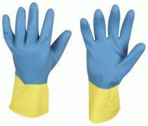 F-STRONGHAND, Neopren-Arbeits-Handschuhe, KENORA, blau/gelb