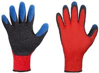 F-STRONGHAND, Feinstrick-Arbeits-Handschuhe, TIP GRIP, rot/blau