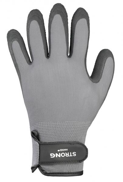 F-STRONGHAND, Nylon-Arbeits-Handschuhe, FASTGRIP, grau-schwarz