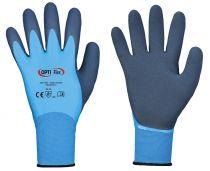 F-OPTI FLEX, Feinstrick-Arbeits-Handschuhe, *AQUA GUARD*, VE: 120 Paar, blau/dunkelblau