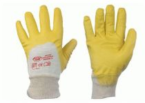 F-STRONGHAND-Nitril-Arbeits-Handschuhe, YELLOWSTAR, gelb