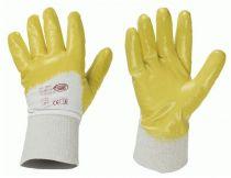 F-STRONGHAND-Nitril-Arbeits-Handschuhe, GELBSTAR, gelb