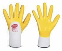 F-STRONGHAND-, Polyester-Arbeits-Handschuhe, AMUR, weiß-gelb