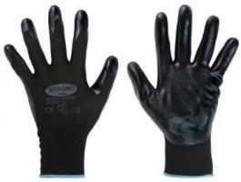 F-STRONGHAND, Nitril-Arbeits-Handschuhe, SHANTOU, schwarz