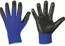 F-STRONGHAND, Nitril-Arbeits-Handschuhe, PROFILGRIP, blau/schwarz