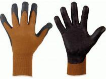 F-STRONGHAND, Nitril-Arbeits-Handschuhe, DALIAN, schwarz/braun