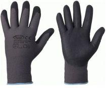 F-STRONGHAND, Nylon-Arbeits-Handschuhe, CANTON, grau-schwarz