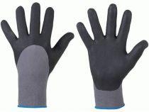 F-STRONGHAND, Nitril-Arbeits-Handschuhe, BUSHAN, grau/schwarz