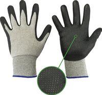 F-STRONGHAND-Baumwoll-Arbeits-Handschuhe, NAIMAN, beige-schwarz
