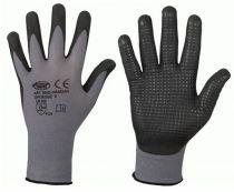 F-STRONGHAND, Feinstrick-Arbeits-Handschuhe, HANDAN, grau/schwarz