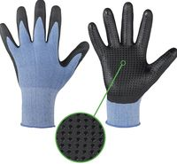 F-STRONGHAND, Polyester-Arbeits-Handschuhe, HANTING, blau-schwar