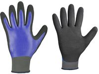 F-STRONGHAND, Nitril-Arbeits-Handschuhe, LAREDO, blau/schwarz