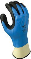 F-STRONGHAND, Nitril-Arbeits-Handschuhe, SHOWA 377, blau/schwarz