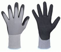 F-STRONGHAND, Nitril-Arbeits-Handschuhe, ATLANTA, grau/schwarz