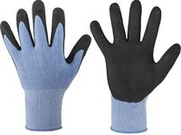 F-STRONGHAND, Polyester-Arbeits-Handschuhe, PORTLAND, blau-schwa