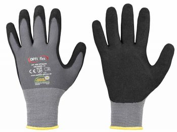 F-OPTIFLEX-Nitril-Arbeits-Handschuhe, *OPTIMATE*, VE: 144 Paar, grau/schwarz