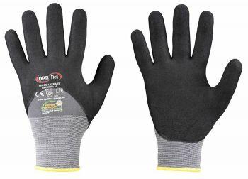 F-OPTIFLEX-Nitril-Arbeits-Handschuhe, *LIQUIMATE*, VE: 144 Paar, grau/schwarz