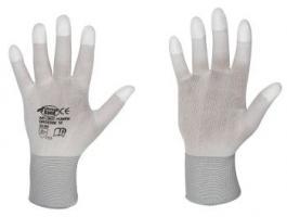 F-STRONGHAND, Polyester, PU beschichtet, Arbeits-Handschuhe, *STANDARD YUMEN*, VE: 240 Paar, weiß