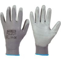 F-GOOD job, Polyester-Arbeits-Handschuhe, GREYGRIP, grau