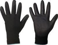 F-GOOD job, Polyester-Arbeits-Handschuhe, DARK GRIP, schwarz