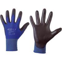 F-STRONGHAND, Nylon-Arbeits-Handschuhe, LINTAO, schwarz-blau