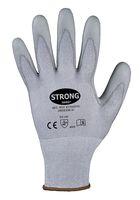 F-STRONGHAND, PU, Schnittschutzfaser, Arbeits-Handschuhe, *KUNMING*, VE: 60 Paar, grau/grau