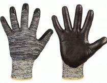 F-Schnittschutz-Arbeits-Handschuhe, CHICO, grau meliert/schwarz