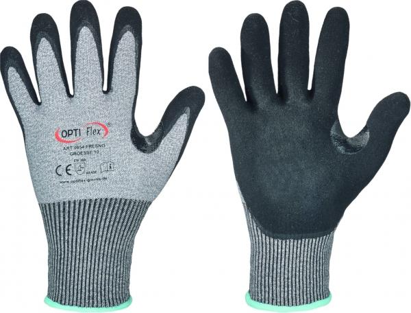 F-OPTIFLEX-Schnittschutz-Nylon-Arbeitshandschuhe, *FRESNO*, VE: 60 Paar, grau/schwarz