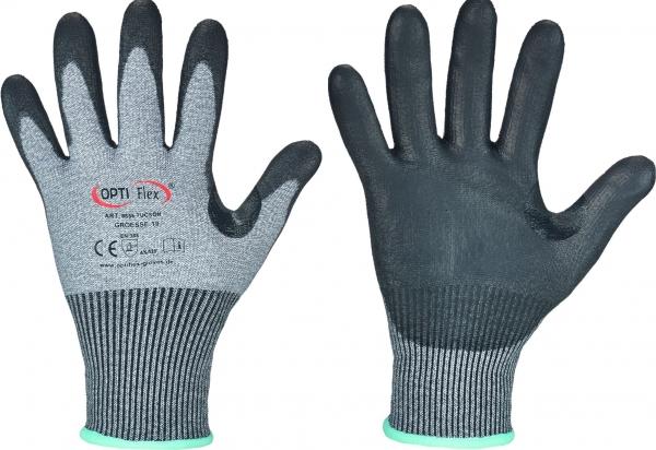 F-OPTIFLEX-Schnittschutz-Nylon-Arbeitshandschuhe, *TUCSON*, VE: 60 Paar, grau/schwarz