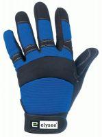 F-ELYSEE-, Kunst-Leder-Arbeits-Handschuhe, MASTER, schwarz-blau