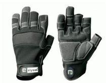 F-ELYSEE, Kunst-Leder-Arbeits-Handschuhe, CARPENTER, schwarz