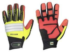 F-ELYSEE, Mechanicals, Arbeits-Handschuhe, *SLATER*, VE: 72 Paar, gelb/rot/schwarz