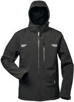 F-ELYSEE Winter-Softshell-Arbeits-Berufs-Jacke, mit Fell, PLUTOS, schwarz