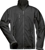F-ELYSEE, Softshell Winter-Arbeits-Berufs-Jacke, KRONOS, schwarz/grau