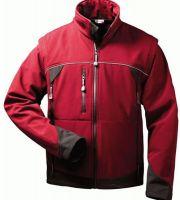 F-ELYSEE, Softshell Winter-Arbeits-Berufs-Jacke, mit abnehmbaren Ärmeln, OMEGA, rot/sch
