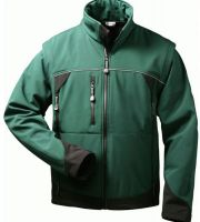 F-ELYSEE, Softshell Winter-Arbeits-Berufs-Jacke, mit abnehmbaren Ärmeln, SIGMA, grün/sc