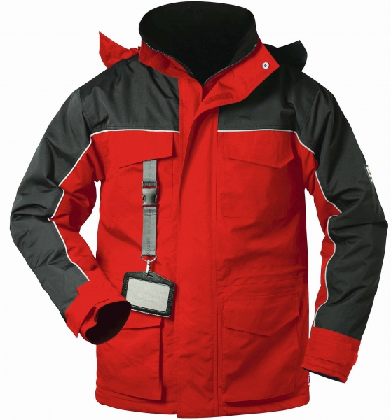 F-ELYSEE-Thermo Parka,*GOSWICK*, rot/schwarz