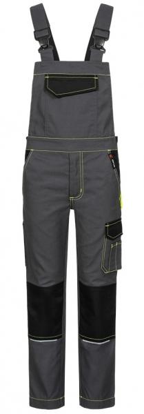 F-Kinderlatzhose, Twill, *RIKUS*, grau/schwarz