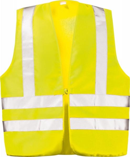 F-WICATEX-Warn-Schutz, Textil Arbeits-Sicherheits-Berufs-Weste, MAX, fluoreszierend gelb