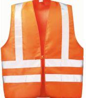 F-WICATEX-Warn-Schutz, Textil Arbeits-Sicherheits-Berufs-Weste, WILFRIED, fluoreszierend orange