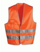 F-WICATEX-Warn-Schutz, Textil Arbeits-Sicherheits-Berufs-Weste, ALFONS, fluoreszierend orange
