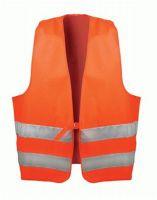 F-WICATEX-Warn-Schutz, Textil Arbeits-Sicherheits-Berufs-Weste, ERNST, fluoreszierend orange