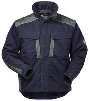 F-ELYSEE-Canvas-2 in 1 Outdoor-Winter-Arbeits-Berufs-Jacke, *ZÜRICH*, 280g/m², marine/grau