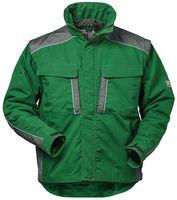 F-ELYSEE-Canvas-2 in 1 Outdoor-Winter-Arbeits-Berufs-Jacke, *LUZERN*, 280g/m², grün/grau