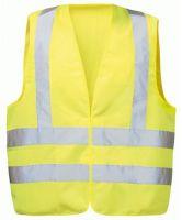 F-WICATEX-Warn-Schutz, Polyester Arbeits-Sicherheits-Berufs-Weste, EGON, fluoreszierend gelb