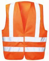 F-WICATEX-Warn-Schutz, Polyester Arbeits-Sicherheits-Berufs-Weste, KARL, fluoreszierend orange