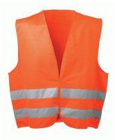 F-WICATEX-Warn-Schutz, Polyester Arbeits-Sicherheits-Berufs-Weste, OSKAR, fluoreszierend orange